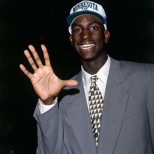 Kevin Garnett at the 1995 NBA Draft.