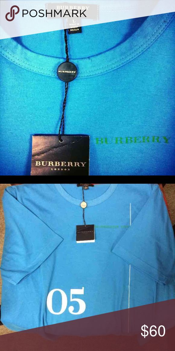 Burberry T-Shirt Made in Great Britain of the original BURBERRY, this tee is made of 100% cotton and is machine washable. New with tag. A nice gift for your man. Compare at $155. Burberry Shirts Tees - Short Sleeve