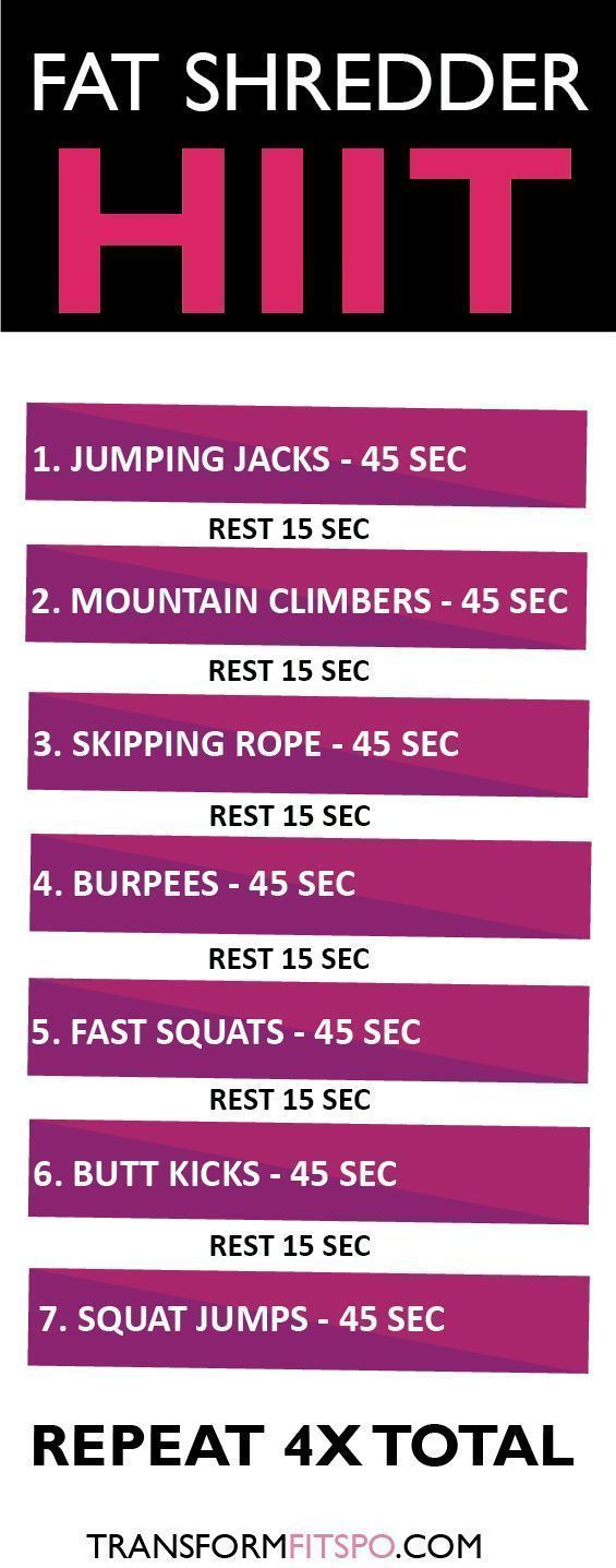 Repin and share if you got some serious results from this fat shredder workout! Read the full article for all the info!