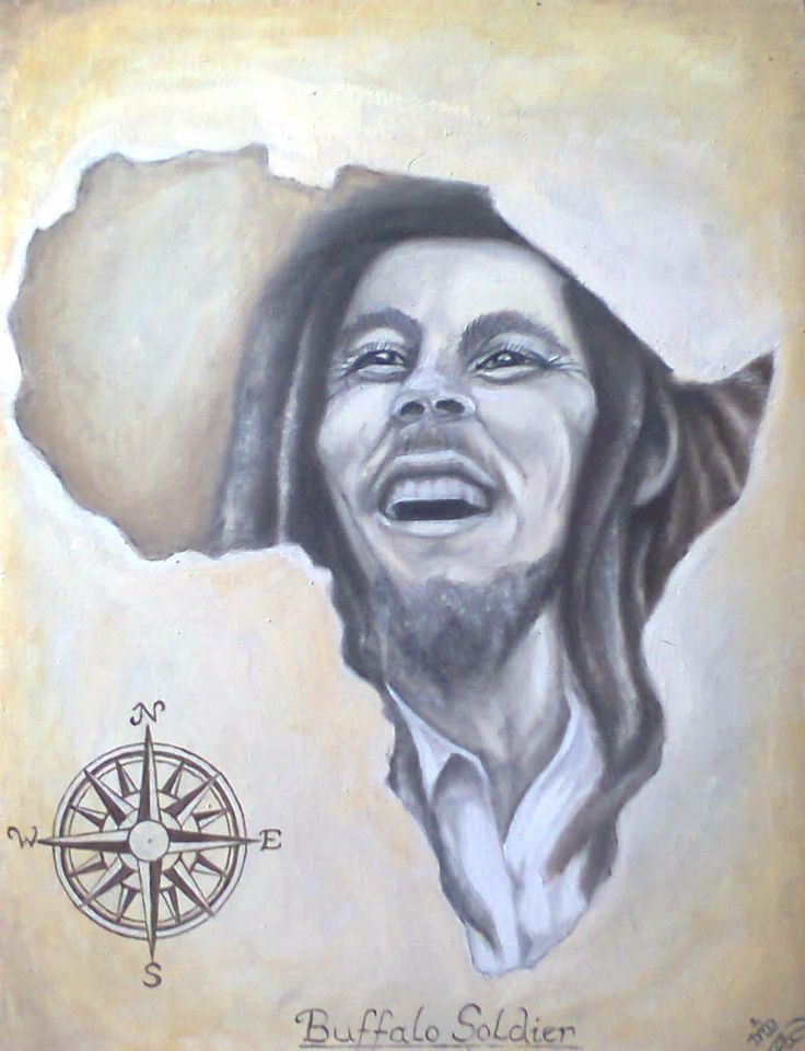 Buffelo Soldier - Bob Marley By Dawn Du Preez  Available on http://sherrynssecret.com/index.php?route=product/category&path=126