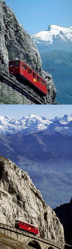 Pilatus bahn (cogwheel railway), Switzerland