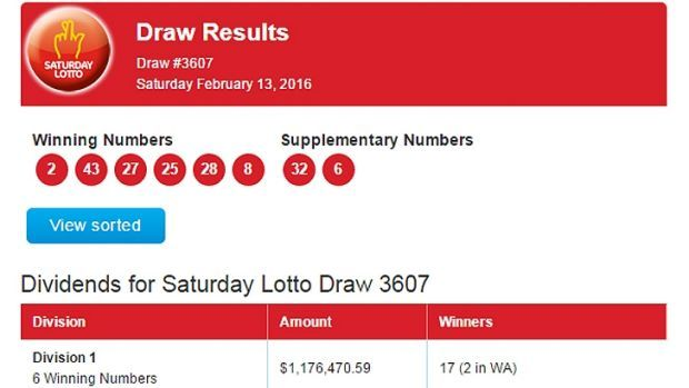 $20 million Saturday Lotto Superdraw: two WA winners get $1...: $20 million Saturday Lotto Superdraw: two WA winners get $1 million… #Lotto
