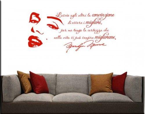adesivi murali adesivo frasi marilyn monroe