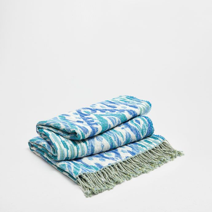 BLAUWE WOLLEN IKAT DEKEN - Dekens - Decoratie | Zara Home Holland