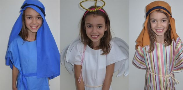 How to make easy nativity costumes - no-sew and great looks!