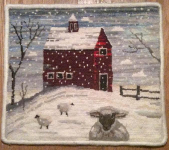 Sheep in snow -I have a photograph I shot in Connecticut 30 years ago... This is it but with snow. I love it-