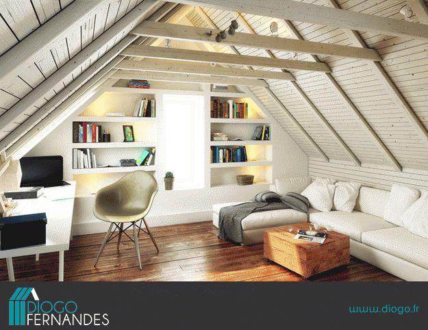 les 25 meilleures id es de la cat gorie grenier am nag sur pinterest chambres mansard es. Black Bedroom Furniture Sets. Home Design Ideas