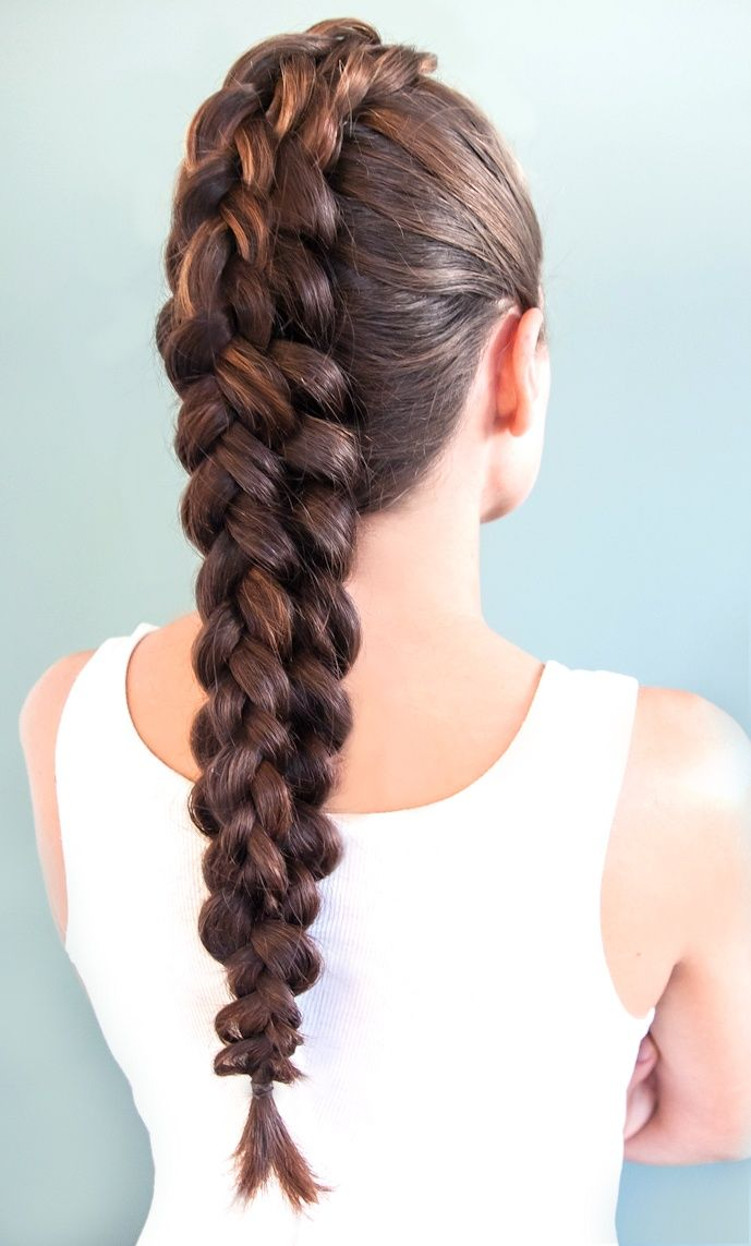 Long chunky mohawk braid