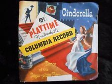 Vintage 1940's Columbia Records CINDERELLA Playtime Nonbreakable 7-inch LP