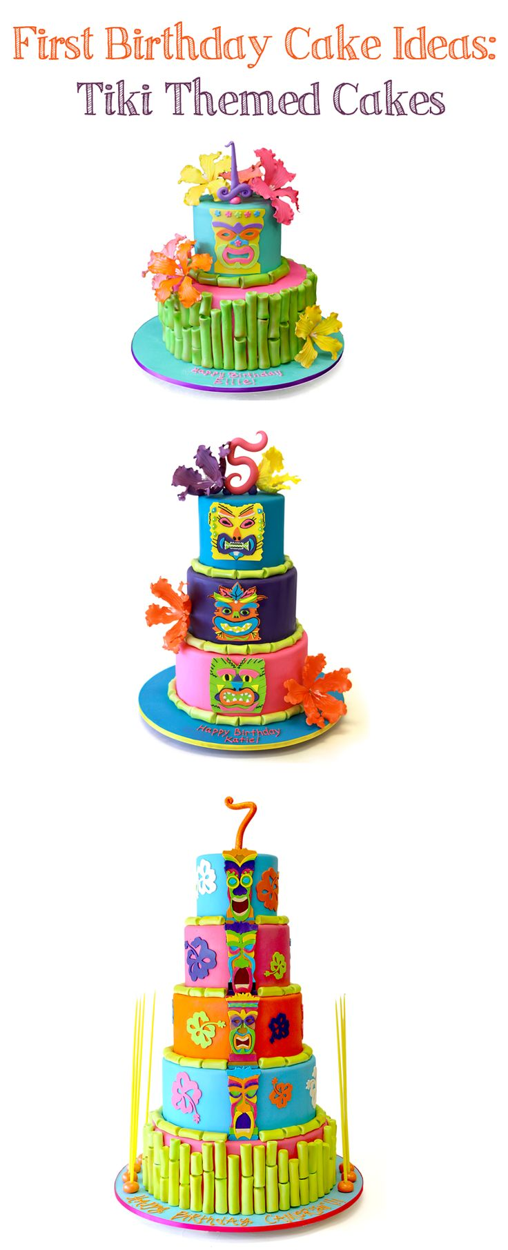 Planning a Luau or Tiki themed party? Check out these cakes and more related 1st birthday cakes on our site!