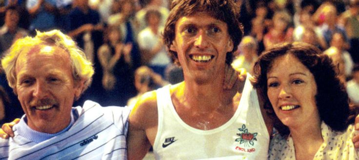 David Moorcroft's Commonwealth Games memories.   Dave with coach John Anderson and wife Linda at the Brisbane Games in 1982