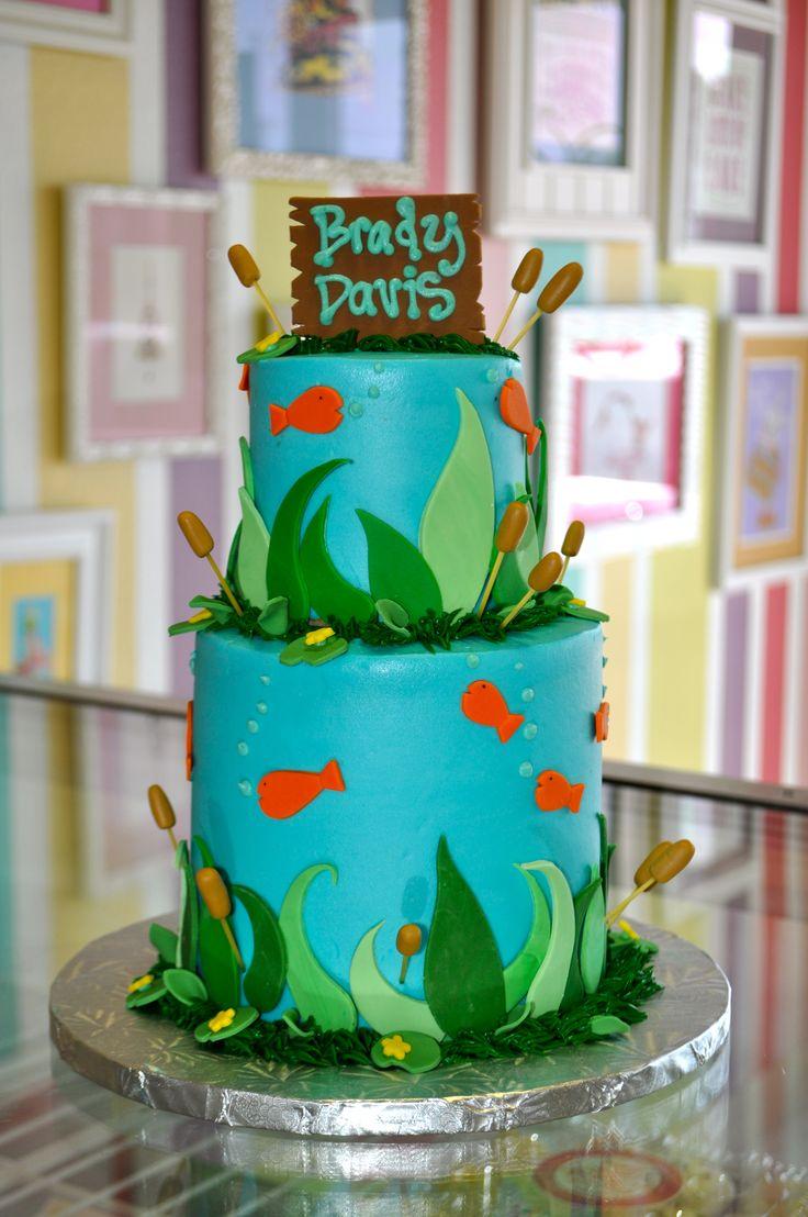 Gone Fishing Baby Shower Cake Www Leahssweettreats Com