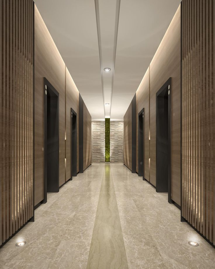 Mimar Interiors Lift lobby lighting. Wall graze. corridor ...