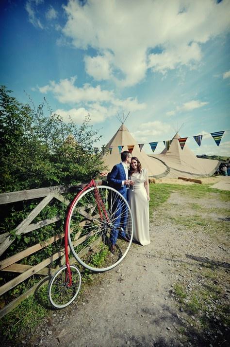 Sick bike & wedding tent! Nicola Thompson Photography