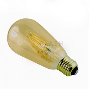 Ampoule led E27 filament ST64 8 watt (eq. 70 watt)    Cette ampoule led de culot E27 et de forme ST64 a une puisance de 8 watt, équivalent 70 watt halogène.  Elle est disponible en blanc chaud (2700° kelvin) et en blanc neutre (4000° kelvin).  Sa luminosité est de 880 lumen.