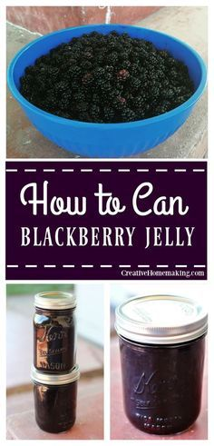 Recipe for making homemade blackberry jelly. Learn how to make homemade jelly the easy way.