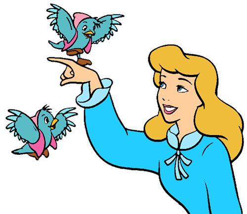 Disney Friendship Dress Cinderella: Cinderella And Her Blue Bird Friends