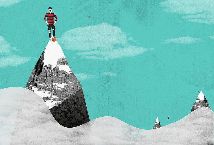 Fun spread for Four Four Two magazine; this was all about altitude training and other ways players deal with high altitude football matches. Part of the South American special issue.