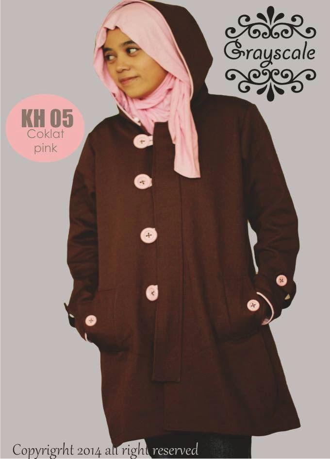 Hoodie Coklat-Pink pin 31591bd9