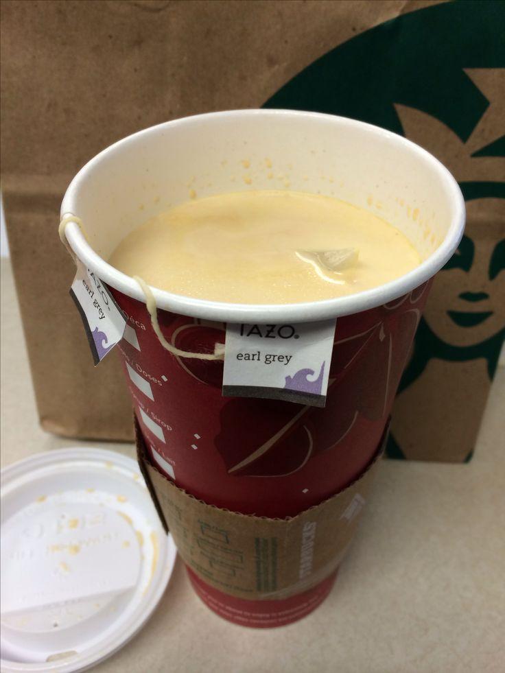Keto London Fog - Starbucks - venti earl grey tea (2 bags), sugar free vanilla syrup, splash of liquid whipping cream #keto