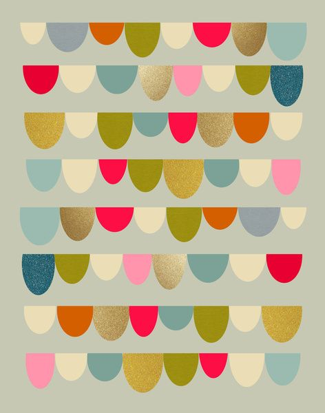 Bunting like objects make me smile! Delightful Rue Art Print by Monica Gifford | Society6