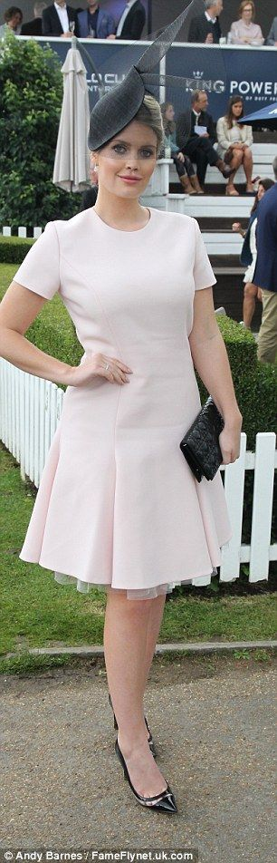 Looking chic: Lady Kitty Spencer wowed in a pretty pale pink dress while Victoria Pendleton went jazzy in prints