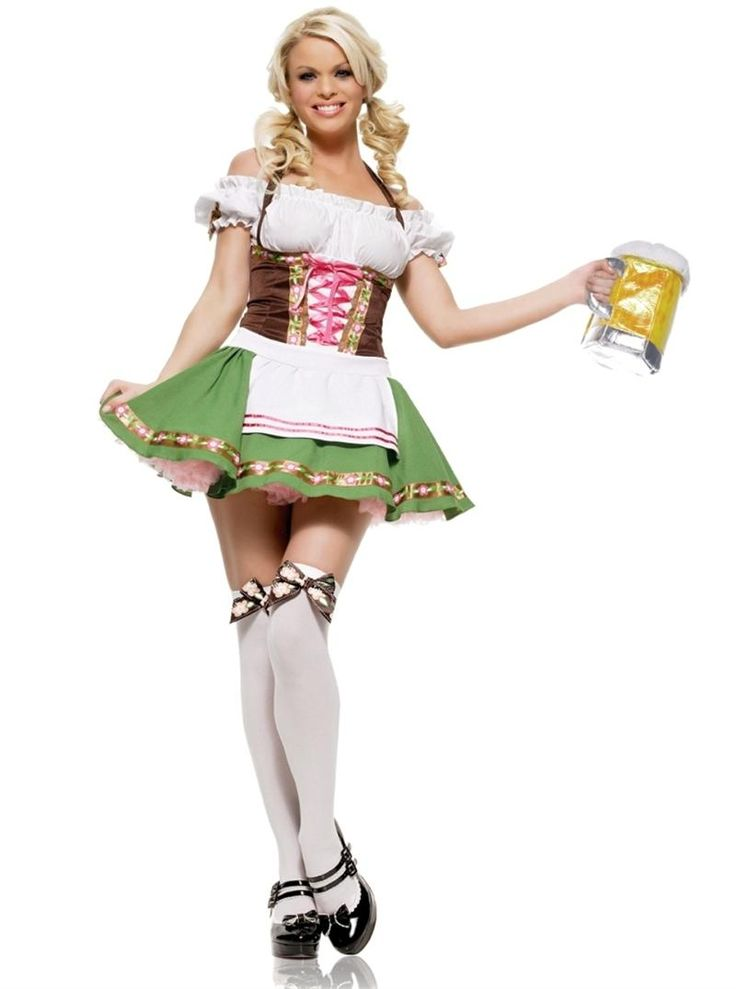 German Beer Girl Halloween Costume, Halloween time! teezerscostumes.com  German beer in New. Oktoberfest