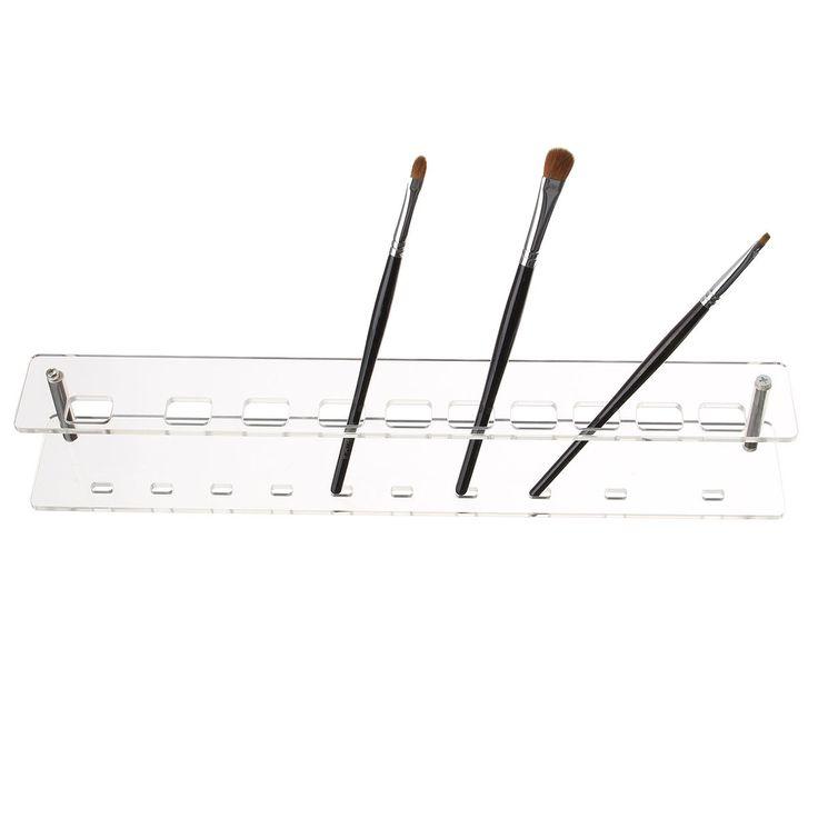 1Pc 10 agujeros cepillo de dientes desmontable cepillo de maquillaje soporte de plástico soporte de pantalla de almacenamiento soporte de cristal