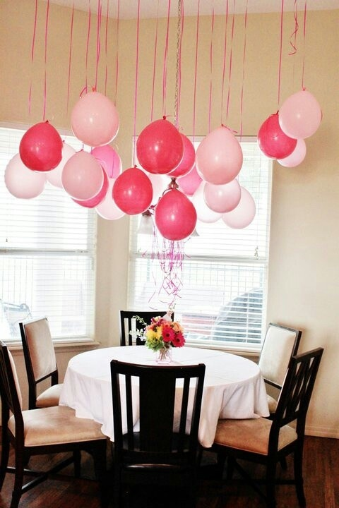 Im ganna hang some balloons upside down u watch...