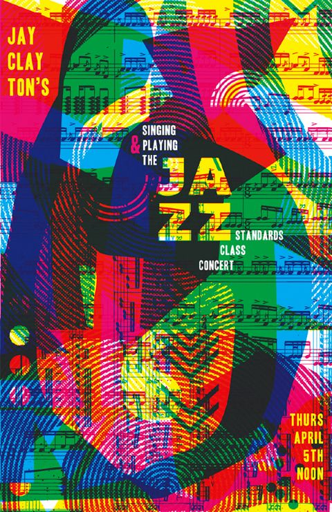 Jazz Concert Poster - (2012) digital collage by Kacie Mills, MICA student, artist and activist