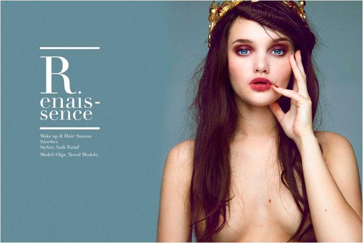RENAISSANCE . fashion editorial by : Annick Turiaf .   Stain Magazine . Potography : Lidia Estepa . Make-Up: Susana Sanchez (DIOR y CAUDALIE) . Peluquería: Susana Sanchez (MOROCCANOIL).  Modelo: Olga Bitkos @TREND MODELS