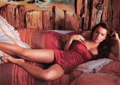 Lindsay Lohan Pre Meltdown Sexy Red Dress