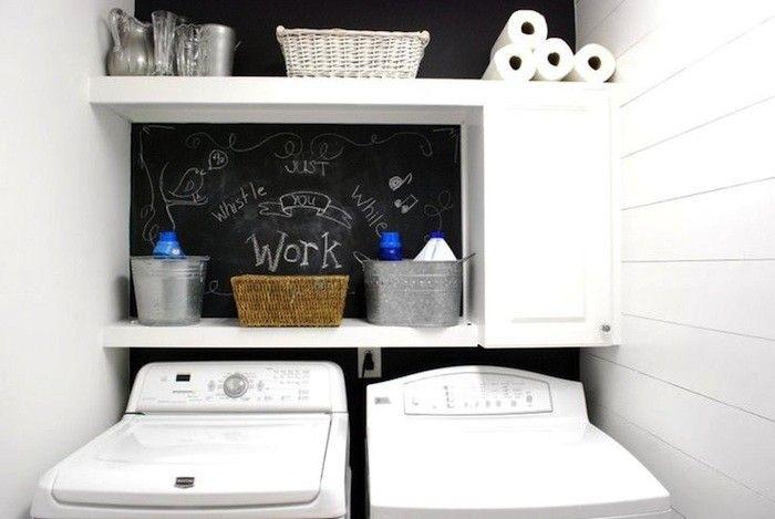 Laundry Room Chalkboard Backsplash Remodelista