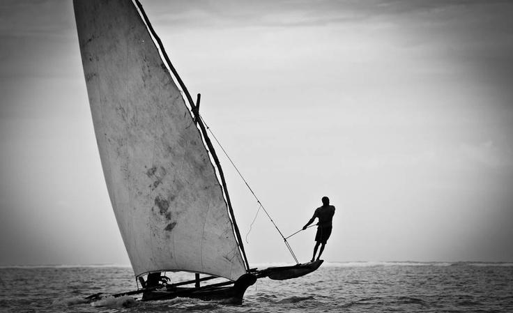 Sailing in Pemba island, Zanzibar archipelago.