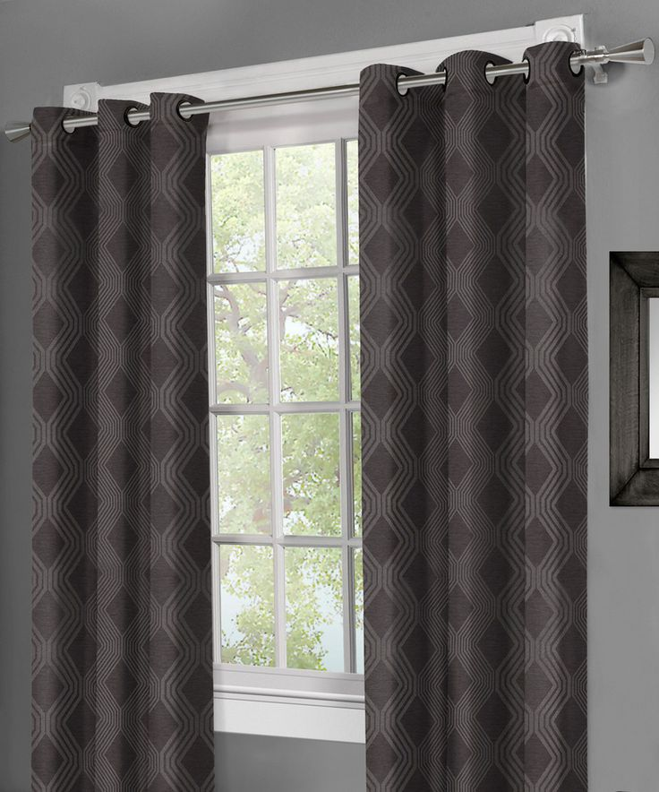Residence Slate Wisteria Jacquard Grommet Panel - Set of Two by ...