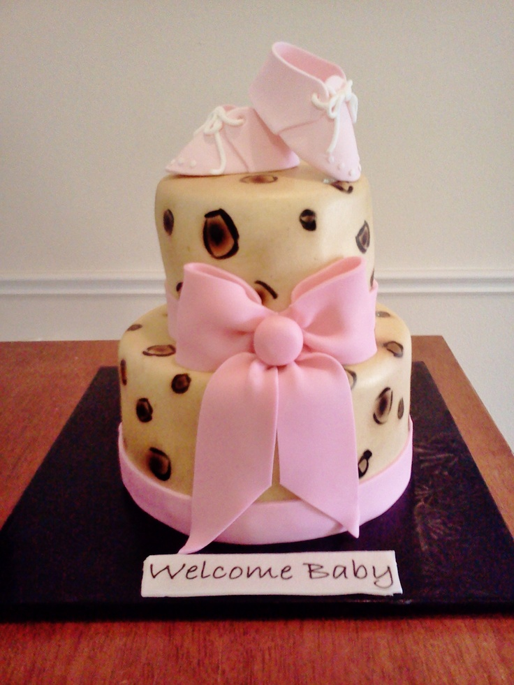 Cheetah Baby Shower Cake