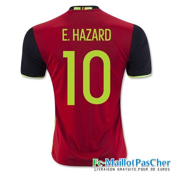 le nouveau maillot de foot euro 2016 belgique rougenoir e hazard 10 domicile