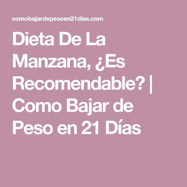 Dieta De La Manzana, ¿Es Recomendable? | Como Bajar de Peso en 21 Días