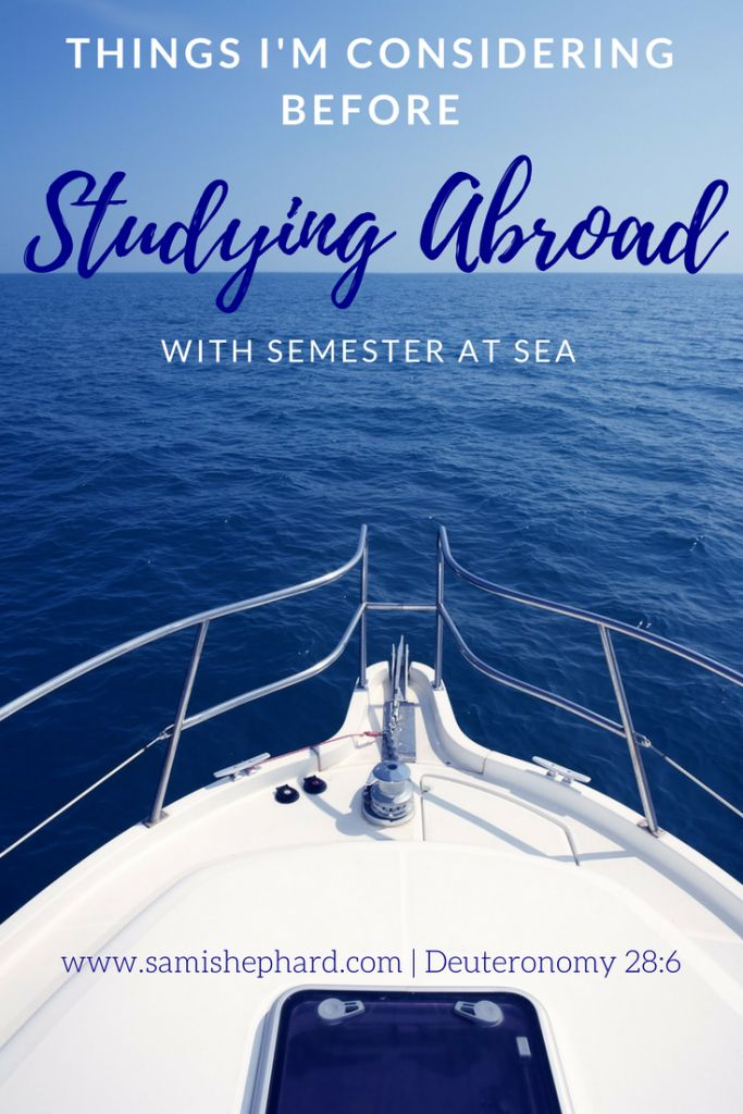 Help me decide on the opportunity of a lifetime with Semester at Sea! Studying Abroad has never looked so fun!