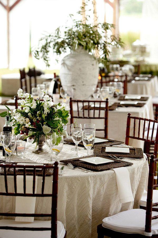 hemingway elegant style wedding, bamboo, rattan, white and greens