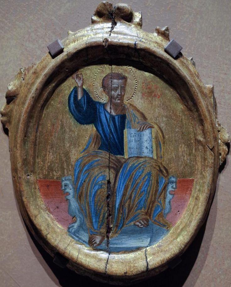 Евангелист Марк, греческая икона, 1700—1800 гг. неизвестен, Public Domain