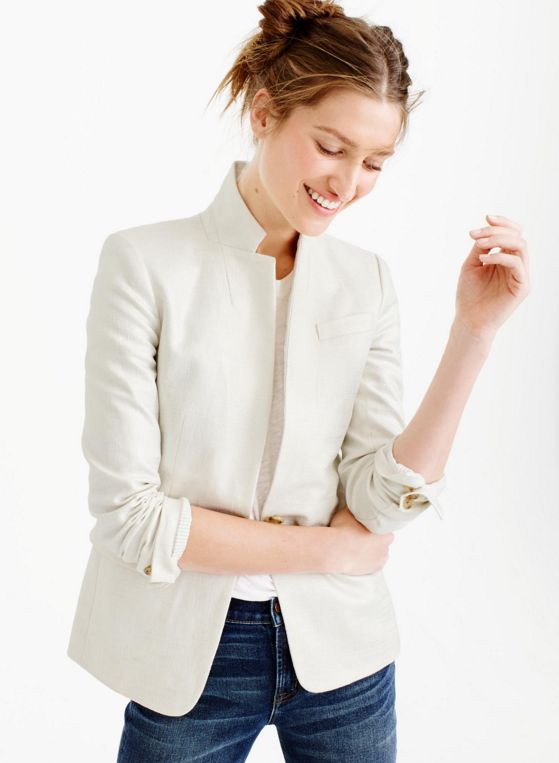Metallic Linen Blazer