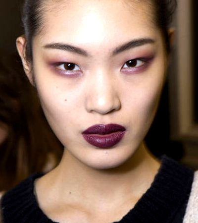 Wine colored lipstick