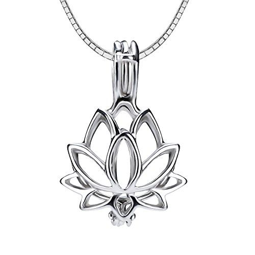 CLUCI 2pcs lotus flower 925 sterling silver cage pendant 14820mm -- Read more  at the image link.