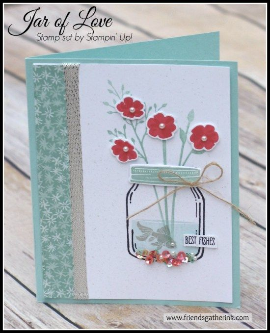Handmade Card Idea using the Jar of Love stamp set by Stampin' Up!
