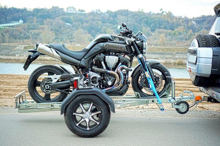 Разборный прицеп для перевозки мотоцикла. Мотоприцеп. На данном прицепе возможно перевезти или эвакуировать классический или спортивный мотоцикл, эндуро, спортбайк, скутер или питбайк. Trailer / mototrailer / trailer for moto