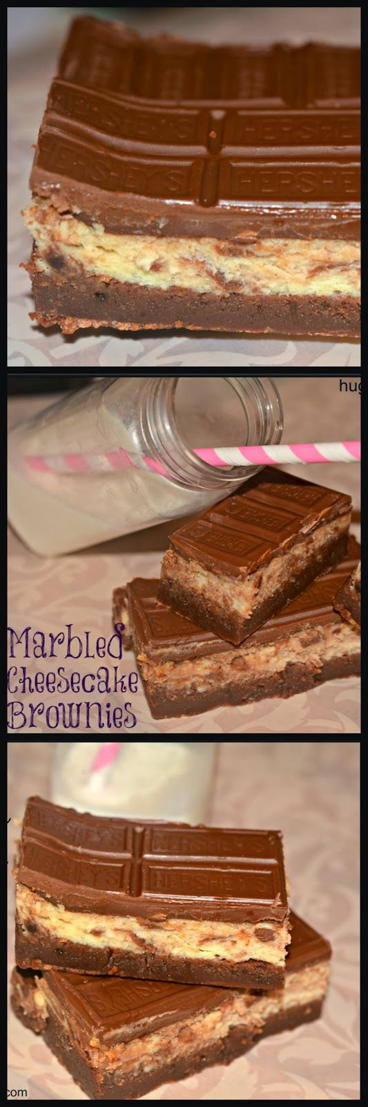 HERSHEY MARBLED CHEESECAKE BROWNIE BARS RECIPE
