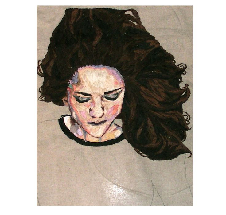Best embroidered portraits images on pinterest