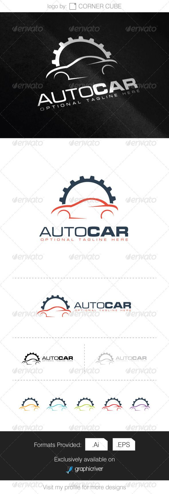 Auto Car Logo — Vector EPS #clean #sports • Available here → https://graphicriver.net/item/auto-car-logo/8340139?ref=pxcr