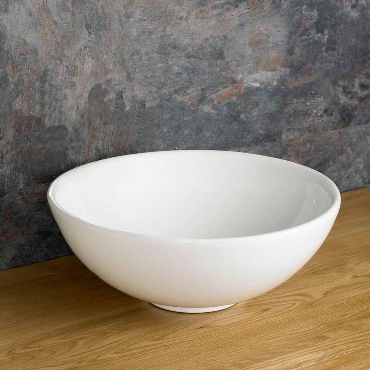 Arezzo 40cm Circular Deep Round White Counter Top Basin